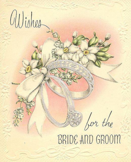 Rings White Ribbon Wedding Wishes