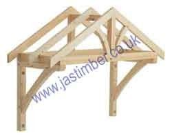 Timber porch canopy from UK, 2' projection from wall