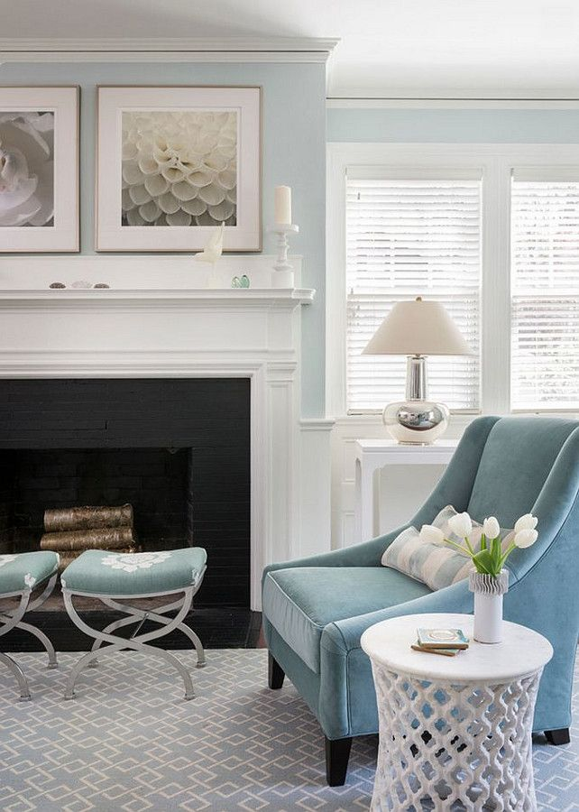 25 best ideas about light blue walls on pinterest - Small spaces george paint ...