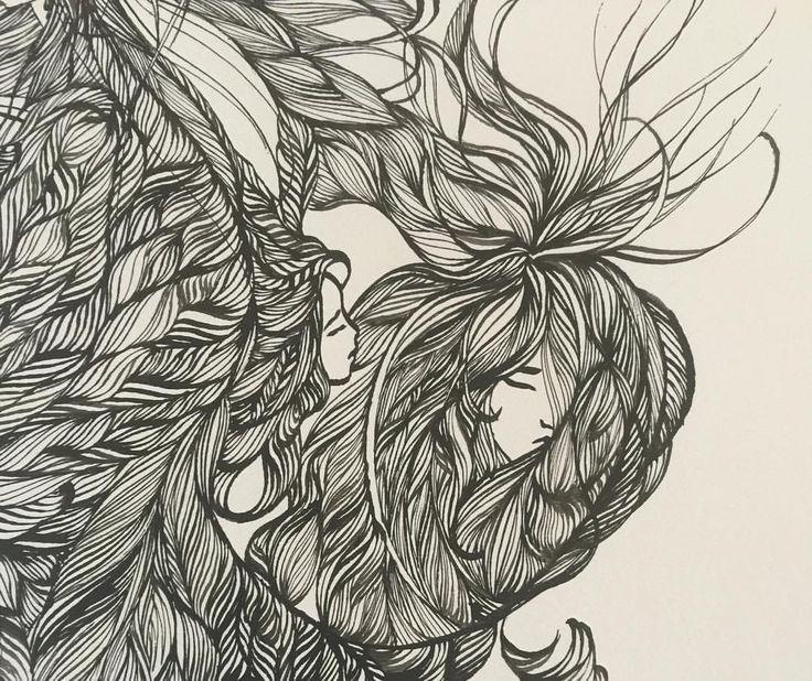 Ashya Lane-Spollen. WIP. Day 5's new faces. 1/3 #illustration #illustrator #art #artist #artlife #artblog #artblogger #ink #quill #blackandwhite #woman #women #hair #style #beauty #beautiful #girl #serenity #peace #dream #french #france #irish #ireland #vulnerable #sea #ocean #magic