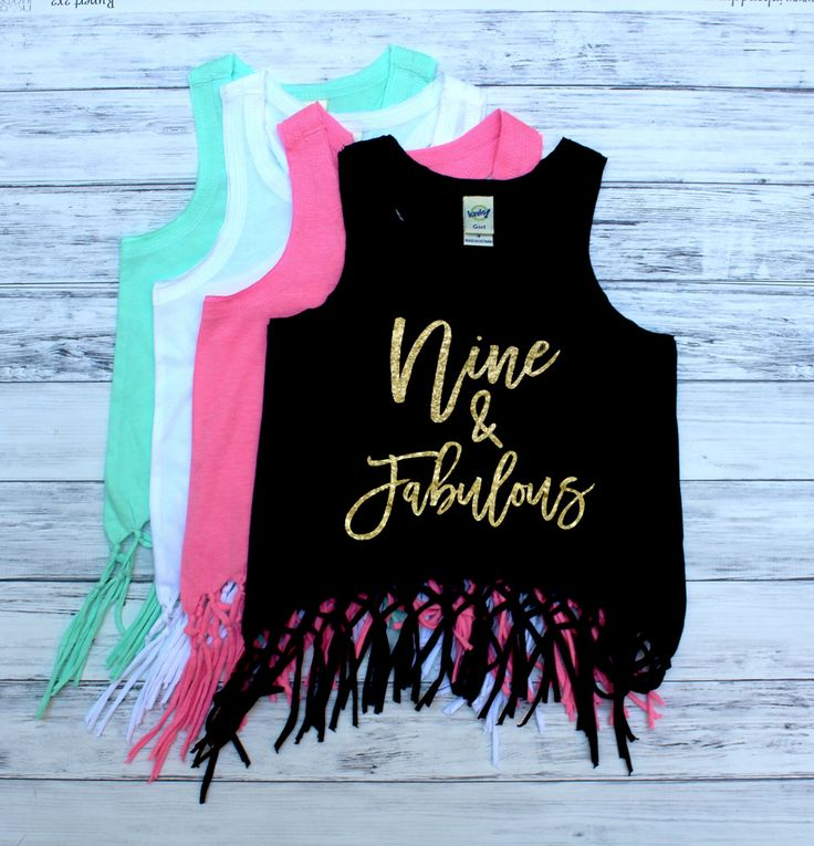 DISCOUNT Code: ANNABELLE15 on all Vazzie Tees purchases <3  Nine and Fabulous - Fringe Tank Top - NINE - 9th Birthday - Birthday Girl - Girls Tank Tops - Summer Birthday - Ninth Birthday Shirt by VazzieTees on Etsy https://www.etsy.com/listing/451368722/nine-and-fabulous-fringe-tank-top-nine