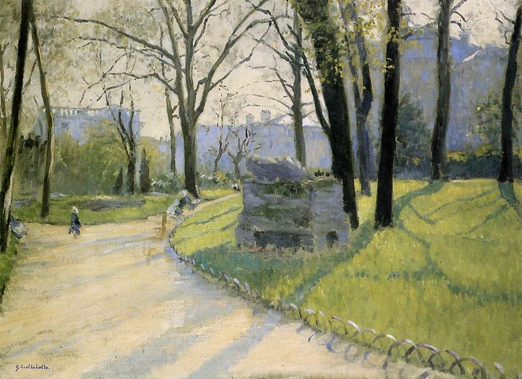 Gustave Caillebotte Paintings | The Park Monceau - Gustave Caillebotte - WikiPaintings.org