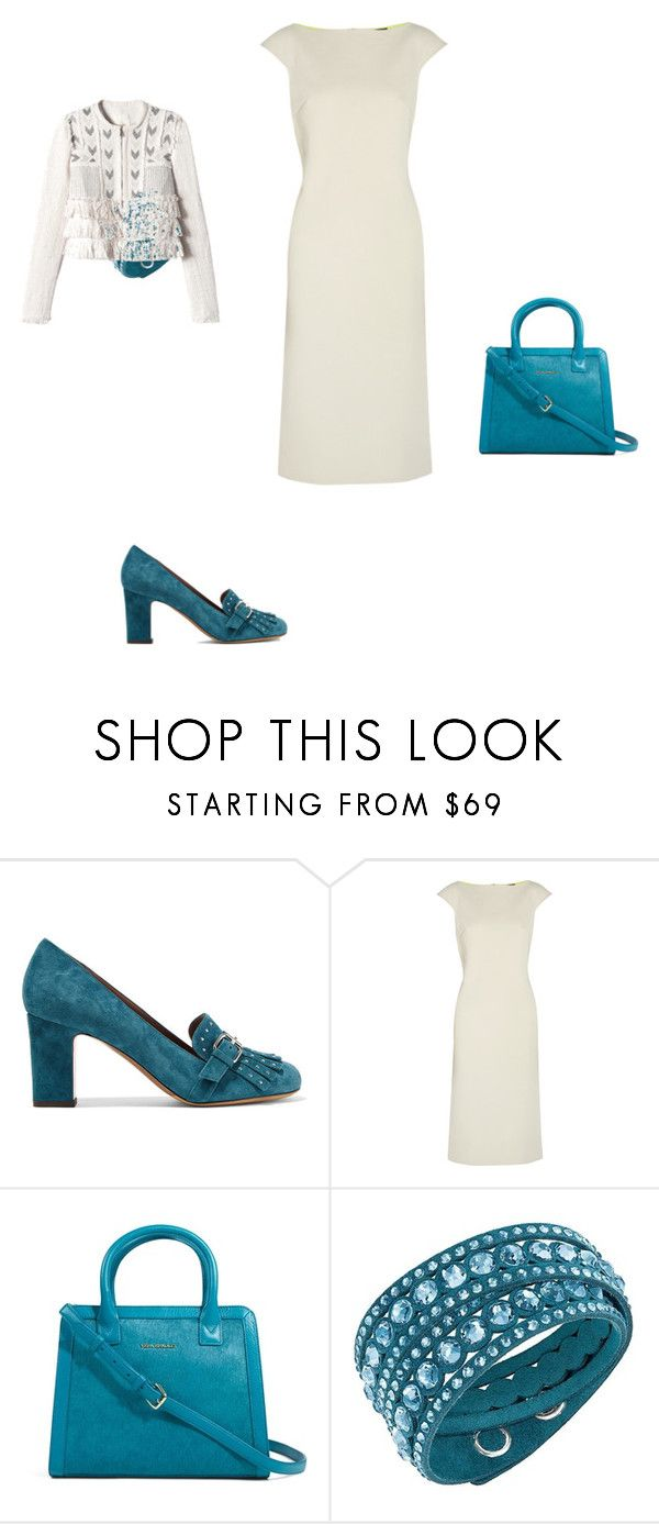 """""""Untitled #12406"""" by explorer-14576312872 ❤ liked on Polyvore featuring Tabitha Simmons, Maria Grachvogel, Vera Bradley, Swarovski and Rebecca Taylor"""