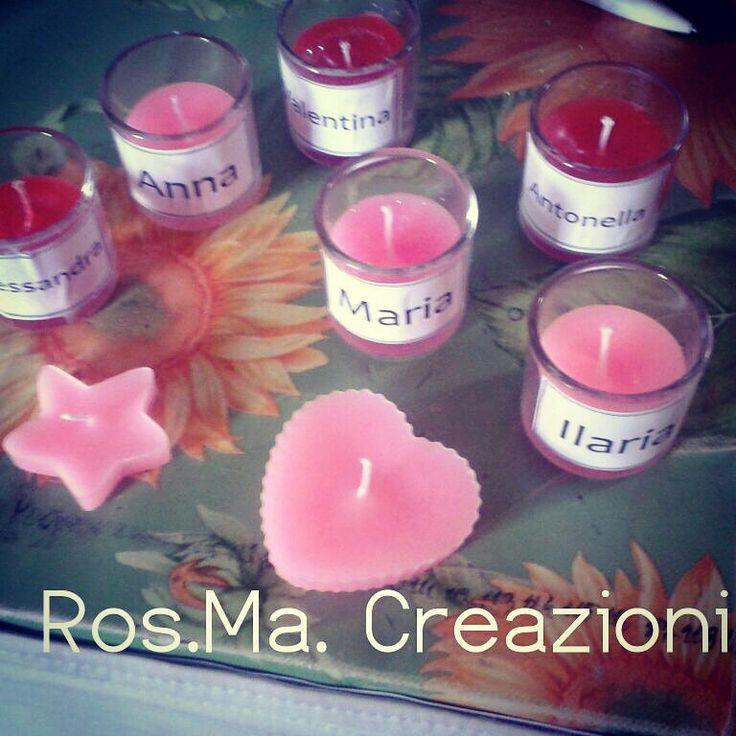 Ecco le prime candeline pronte :-) #Rosmacreazioni #creazioni #homemade #handmade #fattoamanoconamore #fattoamano  #candele #candeline #personalizzate #nomi #rosso #rosa #giulia_waston  rosmacreazioni@hotmail.it