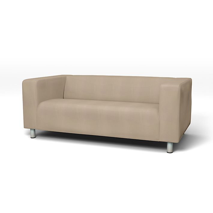 Klippan Sofabezuge 2er Regular Fit Diesen Stoff Anwenden Panama Cotton Ash Brown