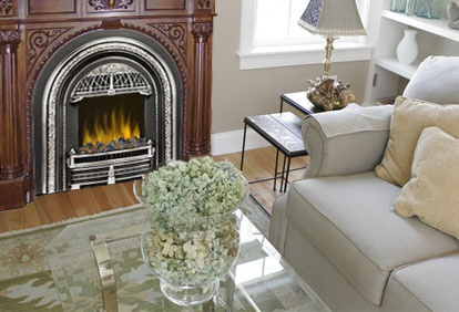 faux electric fireplace insert