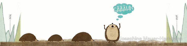 """""""Gähn"""" #illustration #kidsillustration #kinderzimmer #ilebenmitkinder #kunstfürkinder #igel #müde #winterschlaf #tier #tiergeschichte #fridofriert"""