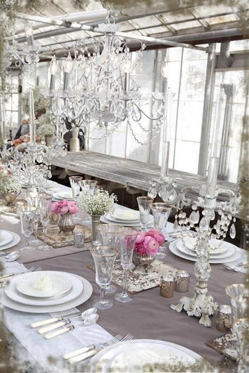 White, crystal, and dash of pink