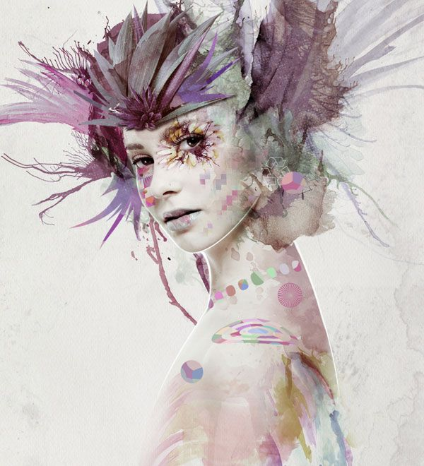 mixed media portrait