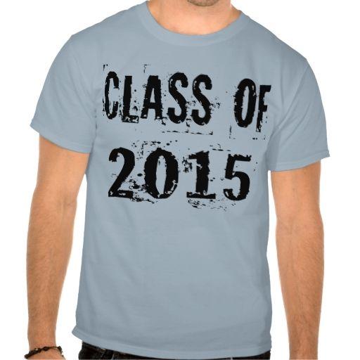 Black Grunge Class of 2015 Tee Shirt