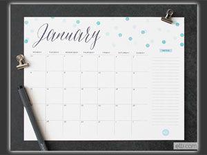 Kalender zum Ausdrucken: Willkommen, 2014!