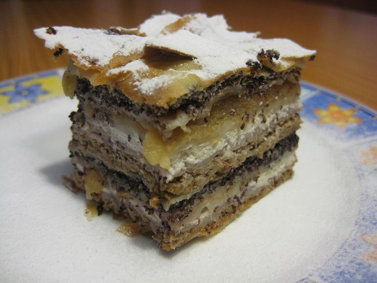 Prekmurska gibanica is a type of gibanica or layered cake that is very tast and you will love it. It contains poppy seeds, walnuts, apples, raisins and ricotta fillings. Although native to Prekmurje, it has achieved the status of a national specialty of Slovenia. The unique sweetmeat shows the variety of agriculture in this region. The name gibanica comes from dialectical expression güba and in this case refers to a fold.