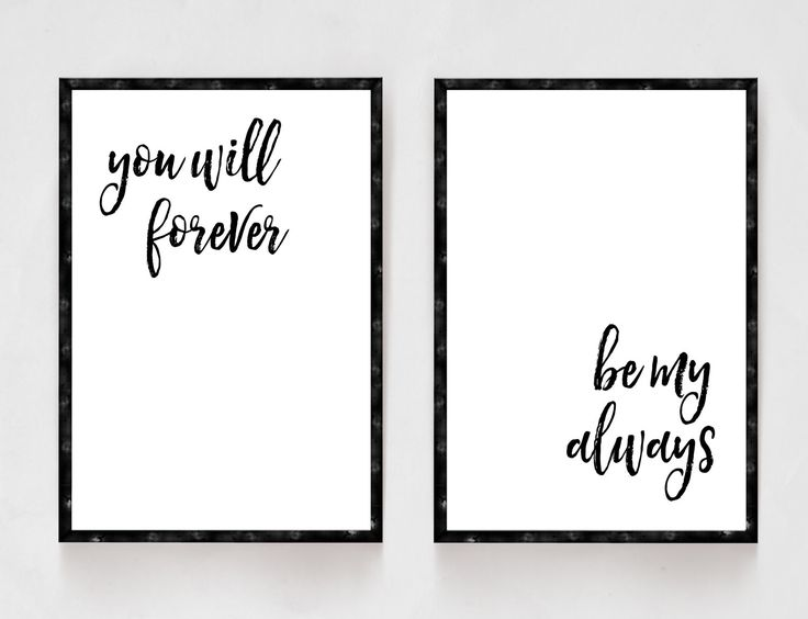 You Will Forever Be My Always, Bedroom Decor, Black and White Prints, Wedding Gifts, Newlywed Gifts, His and Hers, Master Bedroom by printshopstudio on Etsy