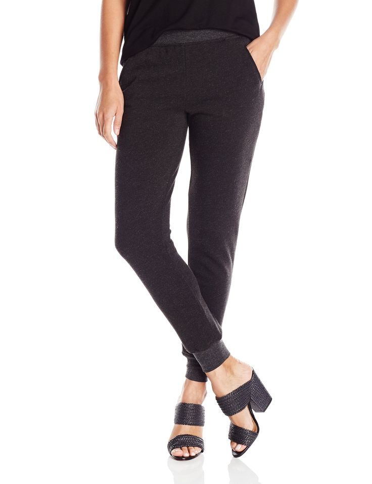 ATM Anthony Thomas Melillo Women's French Terry Slim Sweat Pant, Heather Charcoal, Medium. Cotton/polyester. Imported. Hand wash. Ultra comfortable. Full length sweatpants.