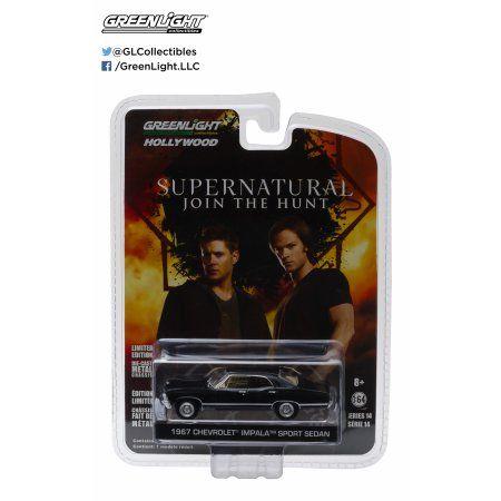 1:64 Hollywood - Supernatural (2005-Current TV Series) - 1967 Chevrolet Impala Sedan, Multicolor