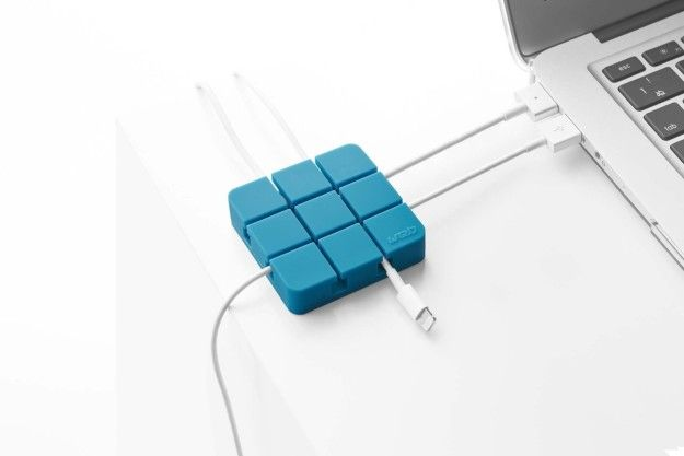 This square cable organizer ($9 to $11) plays traffic cop with your laptop setup. | Can You Get Through This Post Without Spending $50