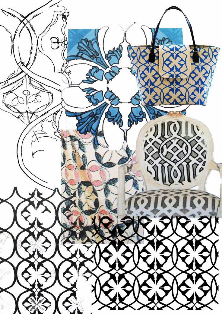 SQ Process for Geometric glamour print  www.suziequ.co.uk