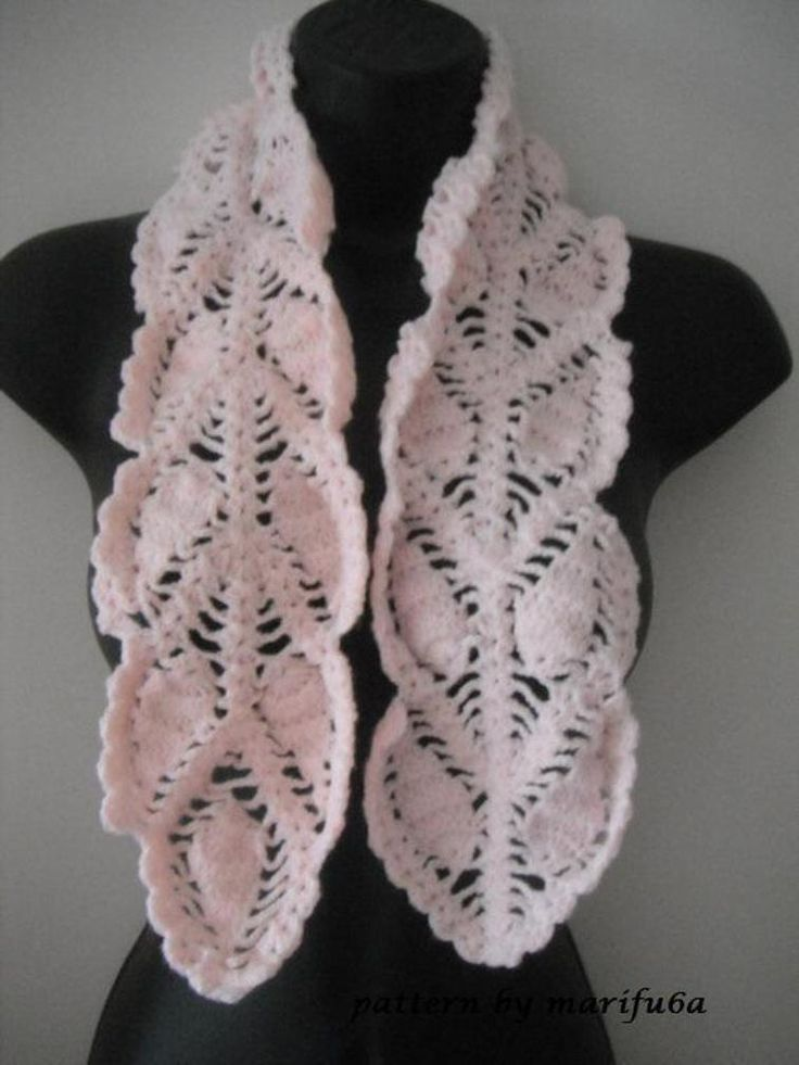 crochet pineapple scarf  | Craftsy
