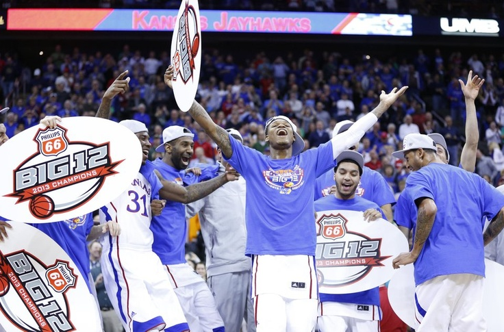 Big 12 Tournament champs 2013. Kansas basketball