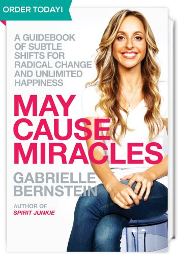 On January 3, 2013, join Gabrielle Bernstein for the New York launch of her new book, May Cause Miracles: A 40-Day Guidebook of Subtle Shifts for Radical Change.  http://gabbyb.tv/new-york-launch