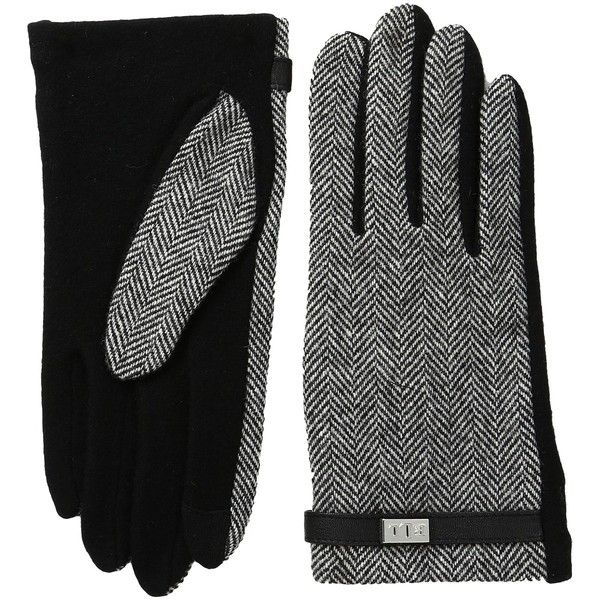 LAUREN Ralph Lauren Menswear Pattern Metal Logo Touch Gloves... (5480 RSD) ❤ liked on Polyvore featuring accessories, gloves, synthetic gloves, faux-fur gloves, wool gloves, touchscreen gloves and cream gloves