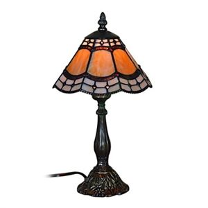 25W Tiffany Style Table Light Glass Shade