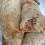 Pancakes filled with Carrots, Onions and Peas in Soft Cheese, 21p a serving