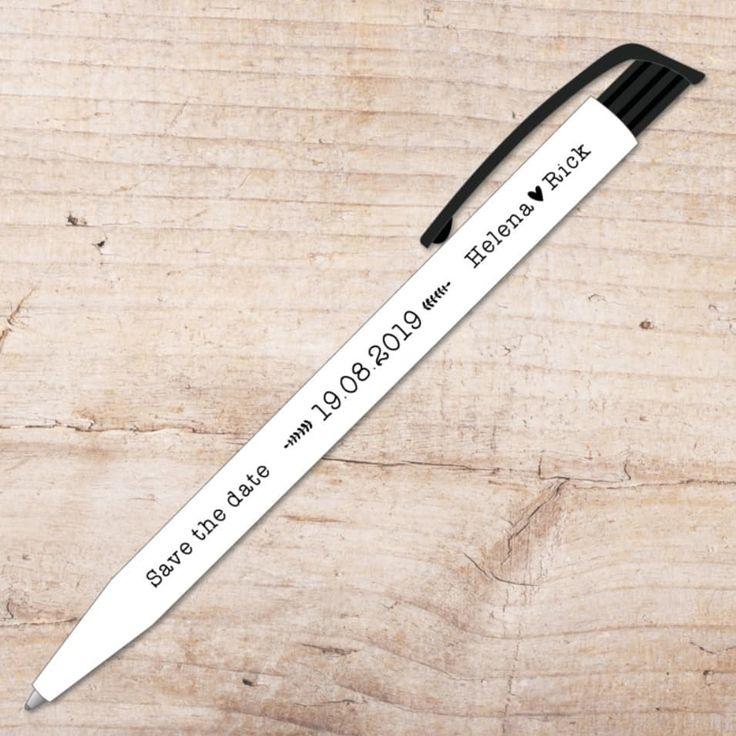 | d a t e | Stuur deze gepersonaliseerde pennen naar je gasten als originele &#3…