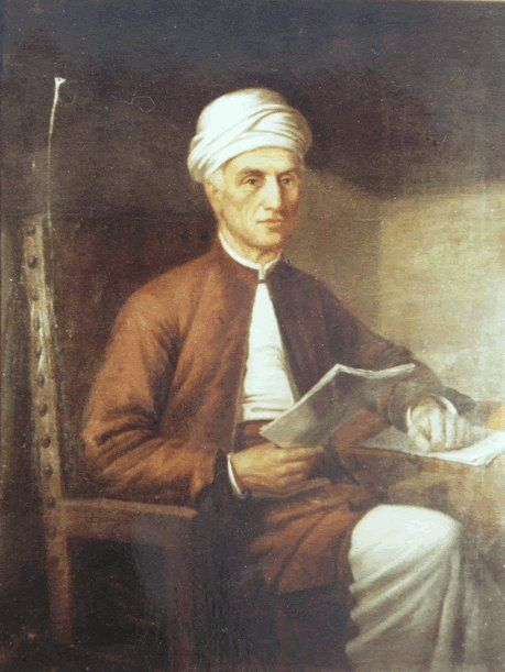 Dimitrios Galanos portrait, who lived in India, by Spyridon Prosalentis (a painter from Corfu, 1830-1895).