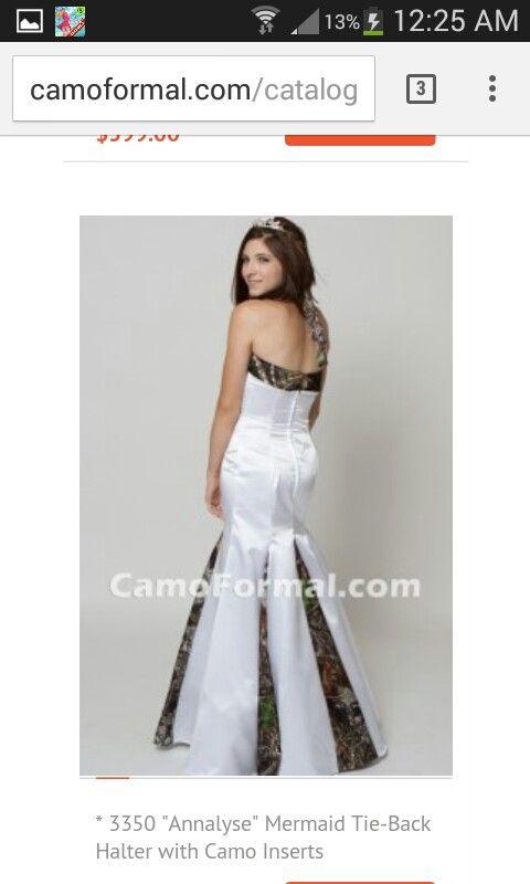 Mermaid cut halter wedding gown love it