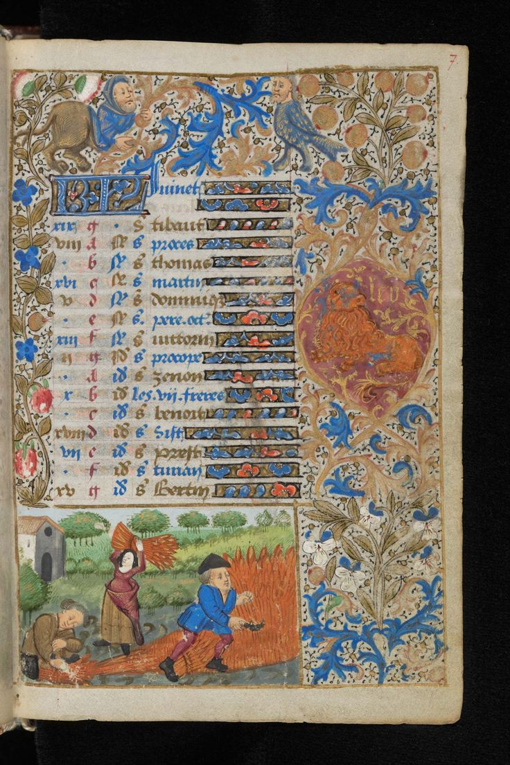 Image result for medieval calendar