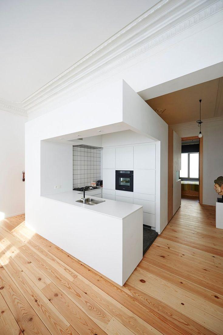Angie Nelson apartment, Ixelles, 2013 - Auxau Atelier d'Architecture #kitchens