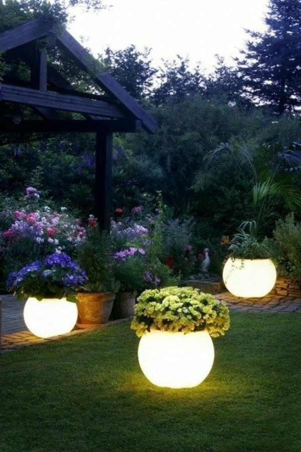 unique outdoor lighting ideas. pot lamps for attractive garden idea unique outdoor lighting ideas o