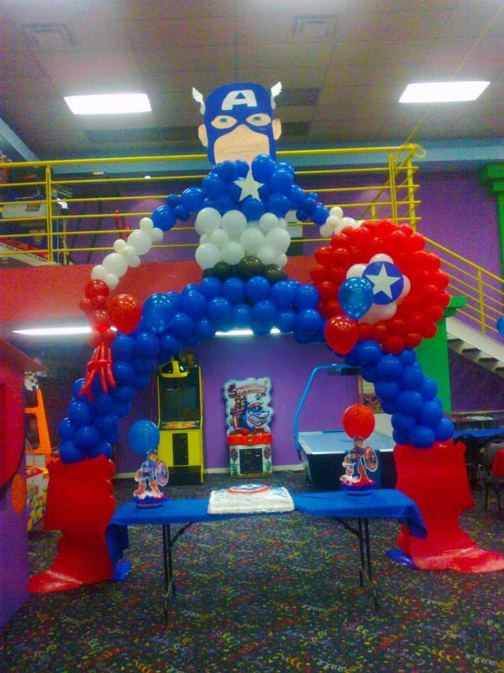 Arco en globos avengers buscar con google fiesta for Decoracion de globos para hombres
