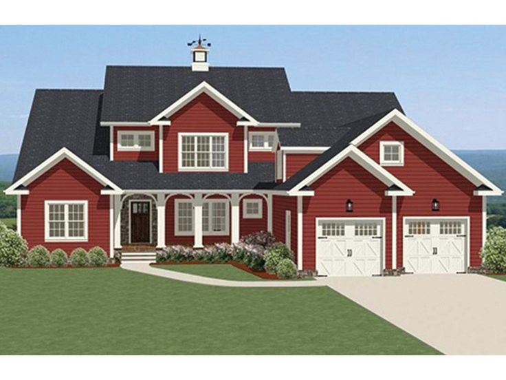 25 best ideas about red houses on pinterest sims 4 Large farmhouse plans