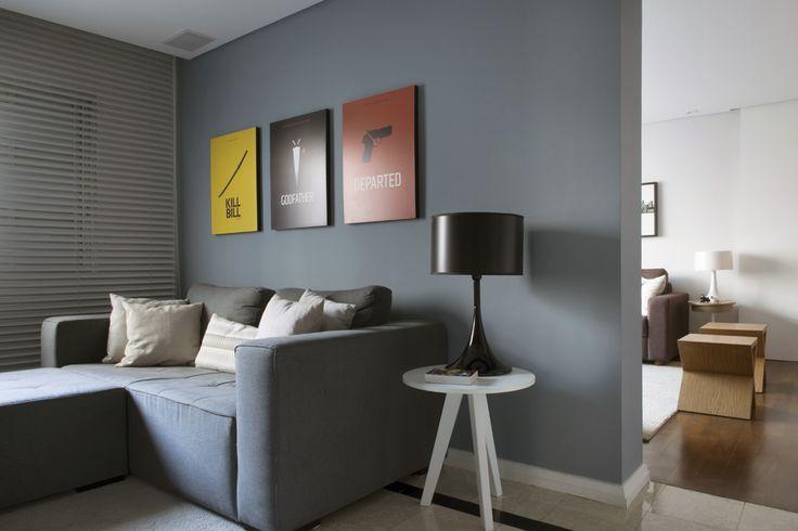 Sala De Estar Com Detalhes Amarelo ~ decoração cinza e azul  Pesquisa do Google  imagens  Pinterest