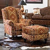 SUNSET CHENILLE OTTOMAN king ranch: Southwest Decoration, Ranch Saddles, Southwestern Sunsets, Saddles Shops, Southwestern Styles, Westerns Decoration, Stylish Westerns, Southwestern Decoration, Chenille Chairs