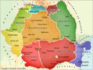 Romania - Regions Map - Transylvania