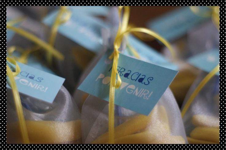 Los souvenirs para las invitadas!