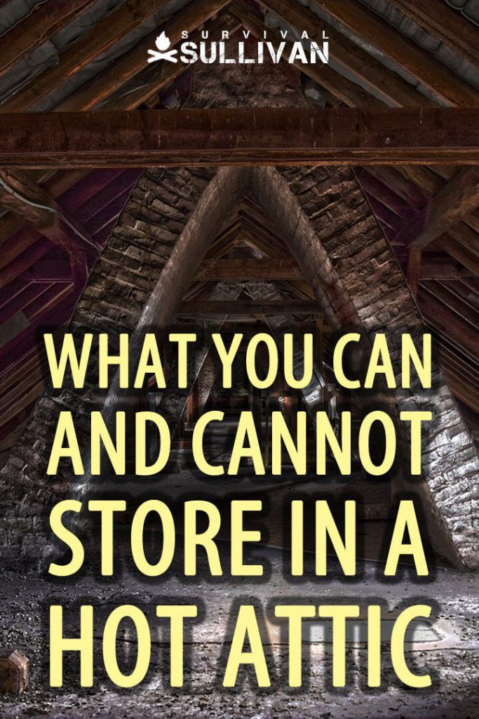 What You Can And Cannot Store In A Hot Attic Attic Attic Storage Painted Stairs