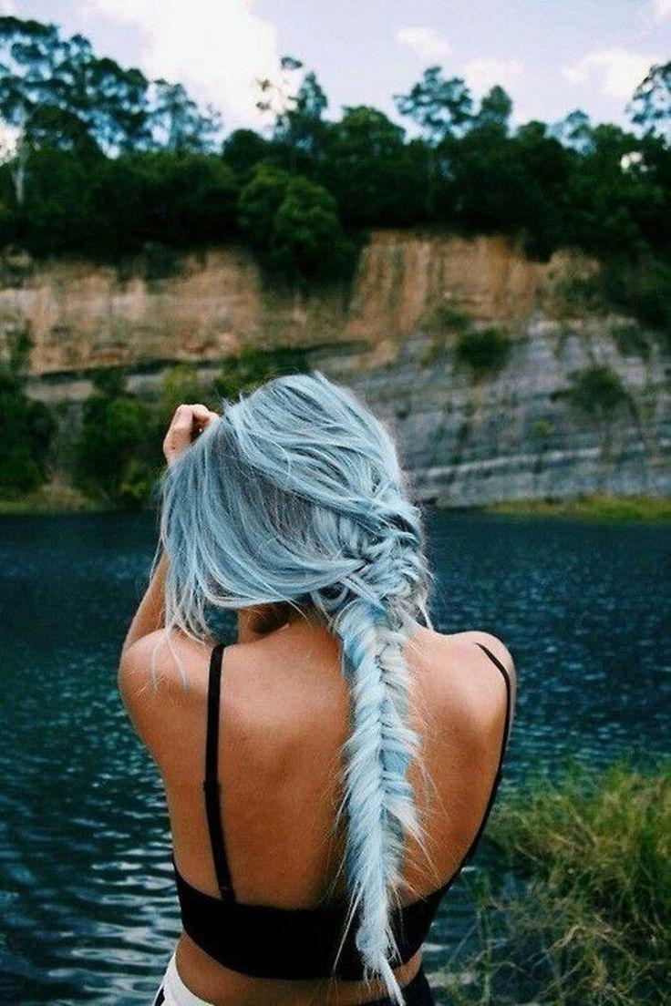 Cabelos Azuis como pintar o cabelo passo a passo em casa (com imagens) | Cabelo azul, Cabelo cor pastel, Cabelo longo