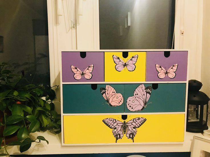 Butterflies, wood box, DIY