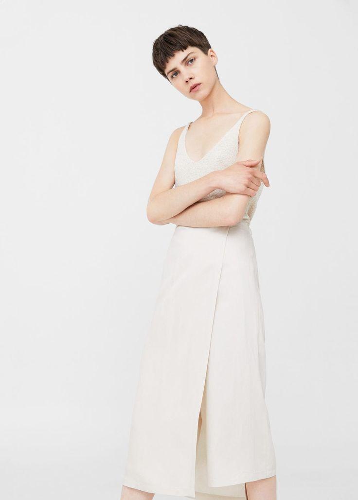 Printed skirt line -  Woman | MANGO Netherlands