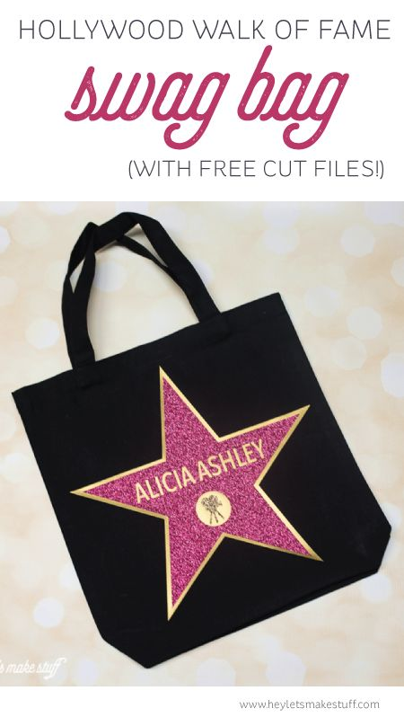 Hollywood Walk of Fame Swag Bag - the perfect party favor for an Oscars party! Fill with all sorts of fun goodies for your guests and make them feel like a star!