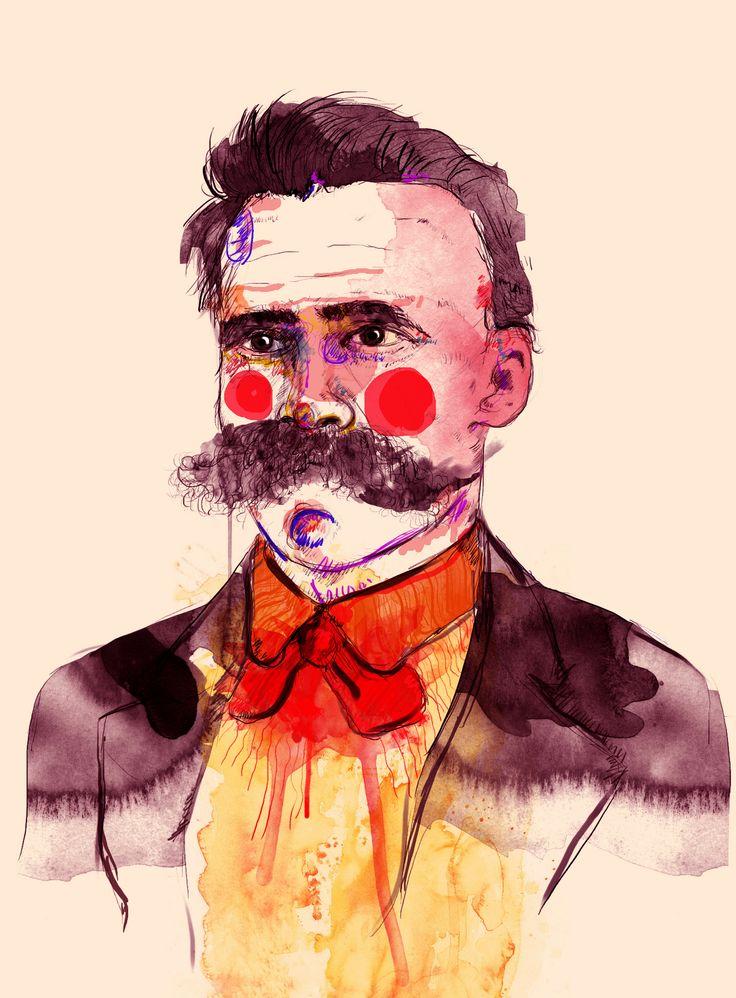 F. Nietzsche 1844-1900, #illustration #portrait #watercolour