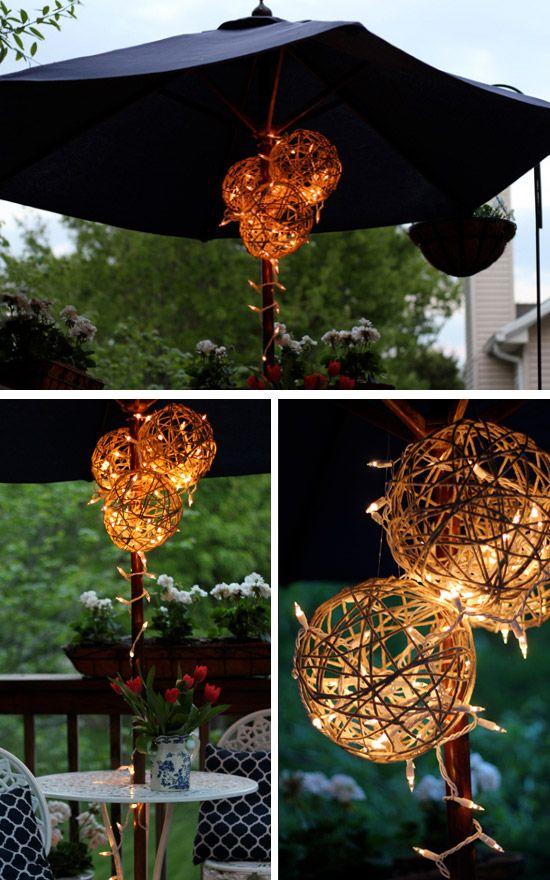 Twine Ball Lanterns | Click Pic for 24 DIY Garden Lighting Ideas | DIY Outdoor Lighting Ideas