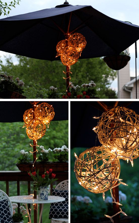 Cordeles bola Linternas | Click Pic 24 Ideas DIY Jardín Iluminación | bricolaje ideas de iluminación al aire libre