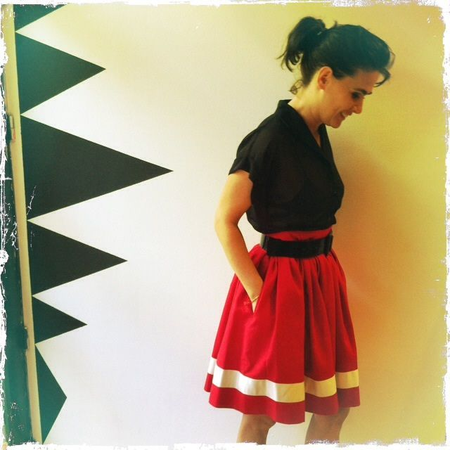 Red skirt from Danish Dixie Grey #dixiegrey