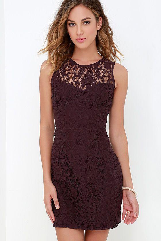 BB Dakota Gabby Plum Purple Lace Dress at Lulus.com!