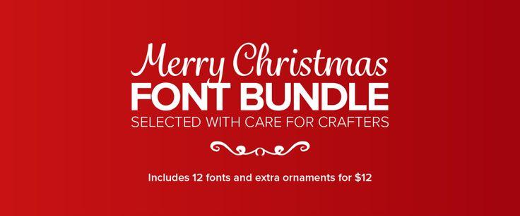 Merry Christmas Font Bundle za 12 dolárov! - http://detepe.sk/merry-christmas-font-bundle-za-12-dolarov/